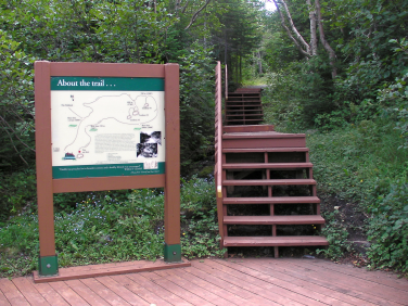 Grenfell Tea House Trail (behind Grenfell Historic House)