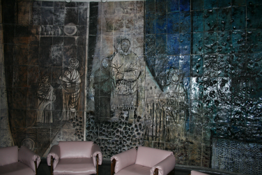 Jordi Benet Murals - At the Rotunda of the Curtis S. Memorial Hospital, St. Anthony, Newfoundland